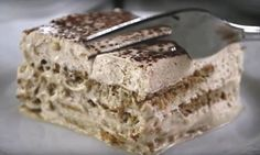Cappuccino cake low in fat and without cooking: the perfect desser cake low in fat and without cooking: the perfect dessert Dessert Parfait, Dessert Dips, Cold Desserts, Biscuits Graham, Cappuccino Coffee, Coffee Blog, Icebox Cake, Mousse Cake, Cold Meals