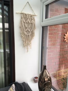 Loving my new purchase today, it so complements my hanging macrame plant holder purchased from Bali. I've been looking for this for ages, so a nice surprise today when I saw it in Matalan!