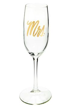 Easy, Tiger Wedding Champagne Glass available at #Nordstrom