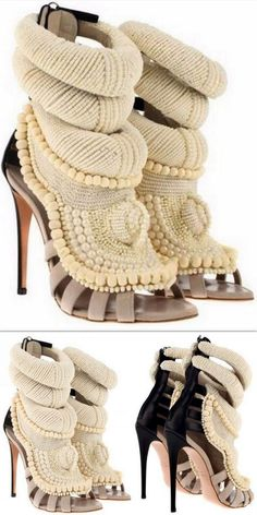 Embroidered Pearl Sandals