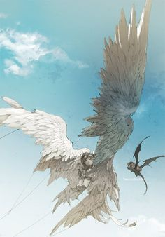 pixiv is an illustration community service where you can post and enjoy creative work. A large variety of work is uploaded, and user-organized contests are frequently held as well. Fantasy Kunst, Fantasy Art, Art And Illustration, Manga Dragon, Wings Drawing, Angels And Demons, Angel Art, Creature Design, Fantasy Creatures