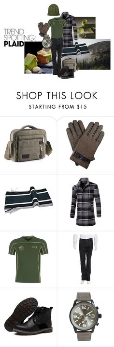 Just perfect by maria-kuroshchepova on Polyvore featuring EA7 Emporio Armani, Hudson, Lords of Harlech, DIBI, men's fashion, menswear, contestentry and NYFWPlaid