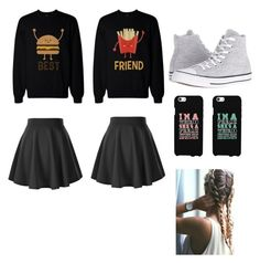 """Best Friend Night"" by crybabyellie ❤ liked on Polyvore featuring Converse"