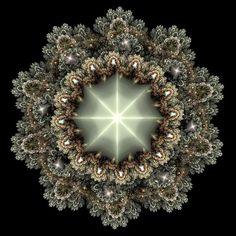 Mandala diamant noir