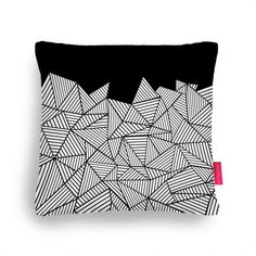 #abstract #lines #black #white #geometric #projectm #ohhdeer #pillow #pillowfight #cushion