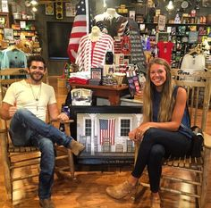 His and her rocking chairs at Crackle Barrel
