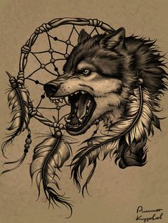 Wolf_head_crying_for_freedom_tattoo_design_by_Al_Rasha.jpg (450×600)