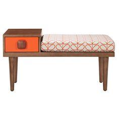 Love this retro designed bench—Orla Kiely's fabrics are gorgeous❣ Fab.com