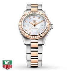 74bbaeffd63 TAG Heuer Women s Watch Aquaracer Diamond Bezel WAP1452.BD0837