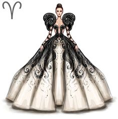 Widder = Aries - Sites new Fashion Illustration Dresses, Fashion Illustrations, Fashion Design Drawings, Fashion Sketches, Drawing Fashion, Zodiac Art, Zodiac Signs, Aries Art, Aries Astrology