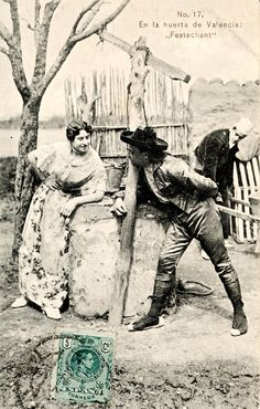 "1912 - Tarjeta postal | Autor: Anónimo | Título: ""Festechant"" | Publicación: Valencia : E.B.P., [1912 a. de] | Serie: ""En la huerta de Valencia, No. 17"" | Nombre jerárquico lugar: València | Autor secundario: Enrique Bort"