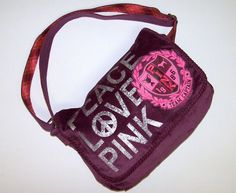 Victorias Secret Love PINK Messenger Bag Cross Body Handbag Purse Victoria's NEW #VictoriasSecret #MessengerCrossBody