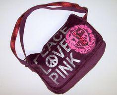Victorias Secret Love PINK Messenger Bag Cross Body Handbag Purse Victoria's NEW #VictoriasSecret #MessengerCrossBody