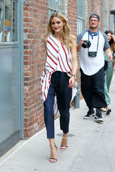 Olivia Palermo on her way to the Banana Republic fashion show