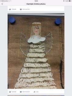 Christmas Things, Christmas Crafts, Christmas Stockings, Angels, Textiles, Holiday Decor, School, Frame, Home Decor