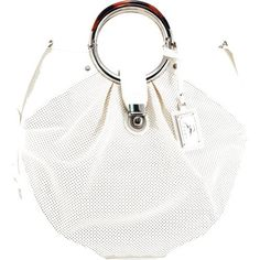 Koret Handbags Perf/Patent N/S Tote with Round Flex Handles (White).  This is the one that I own!