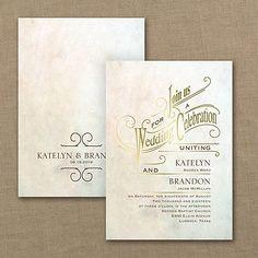 Simply Dreamy Wedding Invitation - Gold     40% OFF     http://mediaplus.carlsoncraft.com/Wedding/Wedding-Invitations/3254-TWS33549GD-Simply-Dreamy--Invitation--Gold.pro