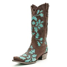 why do i have to have expensive taste?......Lane Damask Turquoise Cowgirl Boots|