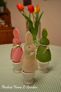 Modest Home & Garden: A tojásmelegítő nyuszik / Egg Warming Bunnies