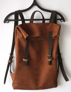 6500р Коричневый кожаный женский рюкзак VIRRONEN из нубука. Артикул SR335529. Цвет коричневый.