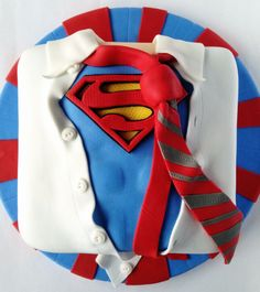 Superman Birthday Cake - For all your cake decorating supplies, please visit craftcompany.co.uk