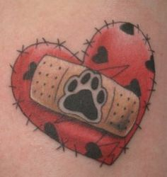 Pet Memorial Tattoo---Adroit Ink  I like this one too.  Looking for more ideas.