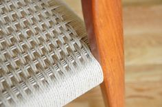 Weaving Danish Paper Cord Seats on Danish Modern Furniture