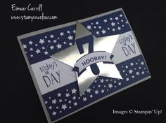 Eimear Carvill www.stampincolour.com Stamping Up All Star Birthday Boy Cards using Night of Navy, Whisper White and Silver Foil