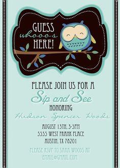 Sip and See Boy...(invitation idea)