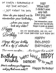 I hate when i cant think of what to write in a card ill be using birthday rubz bymy sentimentsexactly these birthday sentiments are perfect for the inside andor outside of your cards m4hsunfo