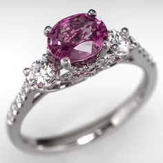 Estate Pink Sapphire Engagement Ring