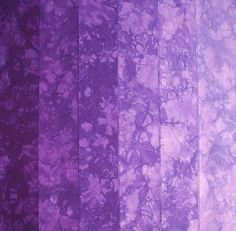 Hand Dyed Cotton Quilt Fabric, HELIOTROPE gradation, 6 Fat Quarters in Royal Purple by RubyMountainDyeWorks on Etsy https://www.etsy.com/listing/84806465/hand-dyed-cotton-quilt-fabric-heliotrope