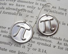 From Wikipedia: Pi Day is a holiday commemorating the mathematical constant π (pi). Pi Day is celebrated on March 14 (or in month/day date format), since 1 and 4 are the three… Brass Jewelry, Beaded Jewelry, Jewelry Box, Jewlery, Pi Day Wedding, Happy Pi Day, Science Jewelry, Teacher Gifts, Math Teacher