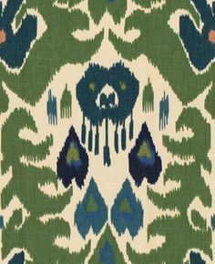 Lee Jofa Fabric 2012144.350 Marco Polo Green/Navy