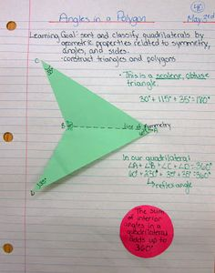 journal entry for sum of angles in a triangle and a quadrilateral#Repin By:Pinterest++ for iPad#