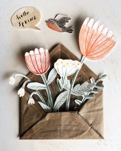 Pin by Lynn Gaines on illustrations i heart in 2020 (With images) Carta Collage, Paper Collage Art, Paper Art, Diy And Crafts, Arts And Crafts, Paper Crafts, Diy For Kids, Crafts For Kids, Kirigami