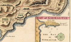 Old Map of Gibraltar Spain 1726 Vintage Map - VINTAGE MAPS AND PRINTS