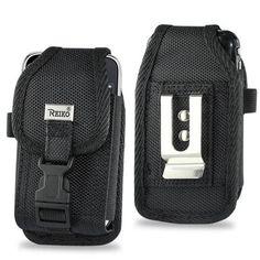 Wholesale Lot - 12 Reiko Black Nylon Cell Phone / iPod / Smartphone Cases