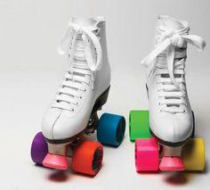 Image detail for -Colorblock Roller Skates   Mostly Green