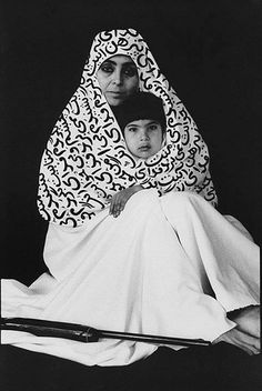 Shirin Neshat. ☚ Lovely Mother and child photograph. Love in the arms of Islam. Powerful.
