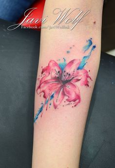 Flower by Javi Wolf ~ next holiday is to Mexico I think! I need a tattoo from Javi Wolf!