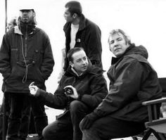 "1997 - Alan Rickman - far right - while directing ""The Winter Guest."""