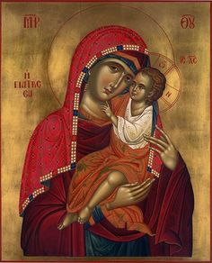 "Theotokos - Modern, Byzantine Orthodox rendition of the miraculous icon of Panagia Giatrissa ""The Healer. Byzantine Art, Christian Artwork, Orthodox Christian Icons, Madonna And Child, Christian Art, Art Icon, Book Icons, Sacred Art, Byzantine"