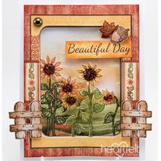 Field Of Sunflowers Fall Cards, Altered Canvas, Tim Holtz Dies, Heartfelt Creations Cards, Sunflower Cards, Candy Cards, Crafters Companion, Thanksgiving Cards, Mothers Day Cards