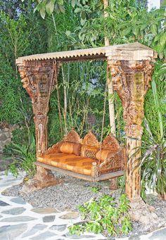 1000 images about radha krishna wedding on pinterest for Garden jhoola designs