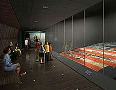 Flag from 911 displayed at the 911 Memorial Museum