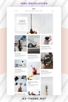 The minimal style and color palette of this blog design means that the template will provide a structure that will work excellently for both business websites and blogs. Moreover, the easy readability will make it a joy for your readers to discover your content. After activation, the easy installation will allow you to start posting blogs immediately. You will also be able to customize the WordPress template with the Customize page and make it even more unique for your needs. Web Themes, Website Themes, Website Design Inspiration, Blog Design, Custom Website Design, Wordpress Website Design, Best Web Design, Wordpress Theme, Wordpress Template