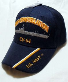 d5de28c6221 Uss constellation cv-64 us navy ship hat officially licensed baseball cap