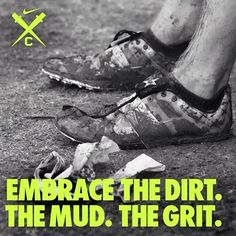 At almost all of my saturday meets, it has rained... rain= mud, mud= the dirtiest runner you'll ever see!
