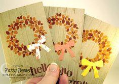 Wondrous Wreath Fall Leaf Note Card Video Tutorial